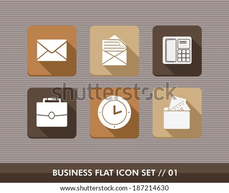 Set of flat design icons for Business and marketing emailing campaign. Vector illustration file layered for easy editing. - stock vector