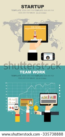 Set of flat design illustration concepts for business, finance, consulting, management, team work, analysis, strategy and planning, startup. Concepts for web banner and printed materials. - stock vector