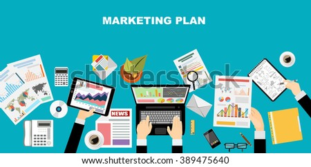 Set Flat Style Designs Business Concepts Stock Vector 220365052 Shutterstock