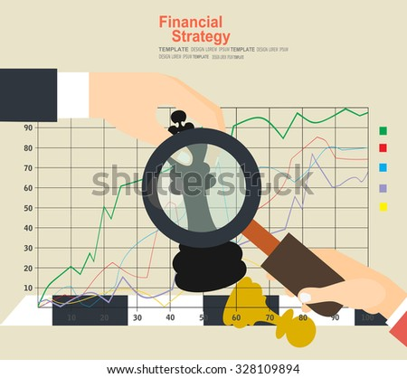 Set of flat design vector illustration concepts for data analysis, strategy planning and successful business - stock vector