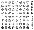 Set of flat icons about The Weather - stock vector