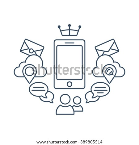Set of flat icons gadget with wifi connection. Icons of devices laptop, TV, monitor screen, tablet, mini tablet, pad, smart phone. Isolated, black color, white background.  Illustration, vector EPS 10 - stock vector