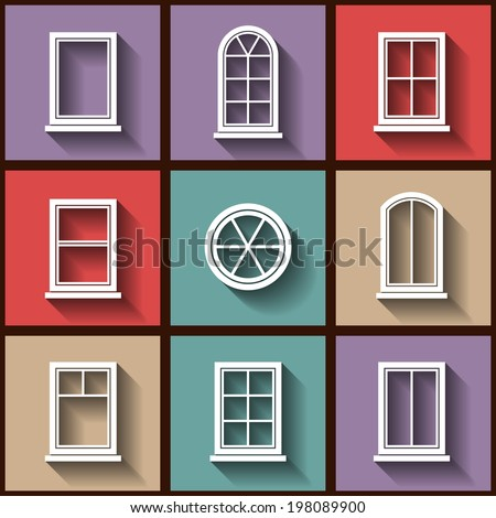 Window stock images royalty free images vectors for Different types of house windows
