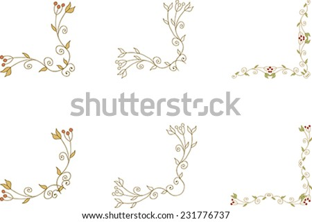 Floral Corner Stock Images, Royalty-Free Images & Vectors ...