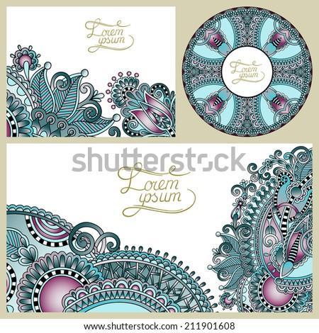 set of floral decorative background, template frame design for card, brochure, book, business card, postcard, wedding invitation, banner, CD design
