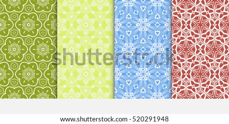 set of floral ornament. seamless vector pattern. interior decoration, wallpaper, invitation, fashion design.