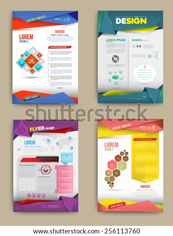 Set of Flyer, Brochure Design Templates. Abstract Modern Backgrounds. business concept. Vector illustration. - stock vector