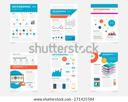 Set of Flyer, Brochure Design Templates. Geometric Triangular Elements, Abstract Modern Backgrounds. Mobile Technologies, Applications and Online Services Infographic Concept. - stock vector