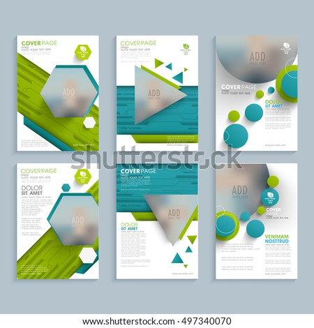 Brochure annual report flyer design templates stock vector for 6 page brochure template