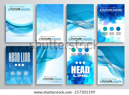 set flyer design infographics brochure designs stock vector 257301199 shutterstock. Black Bedroom Furniture Sets. Home Design Ideas