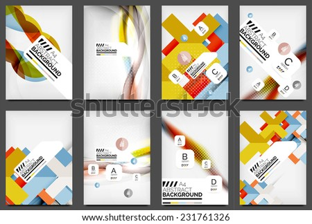 Set Flyer Templates Business Web Layouts Stock Photo Photo Vector