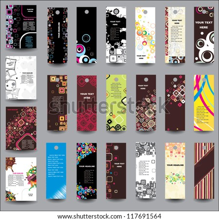 Set of flyers and banners - stock vector
