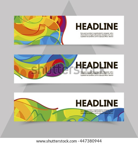 Set of flyers with abstract background in colors of rio 2016 Olympic games. Summer Sport Brazil. Olympics banner, brochure, leaflet, booklet, poster. Olympiad. Official ceremony. Gold medal event