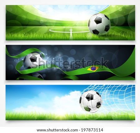 Set of football banners - stock vector