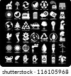 Set of 42 (forty two) ecology icons - stock photo