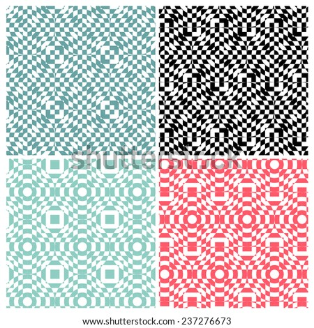 Set of four abstract switch color patterns