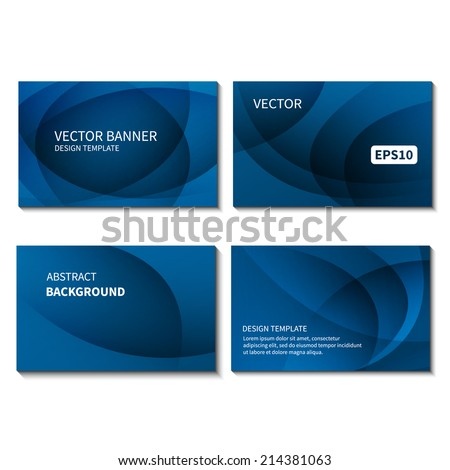 Set four business cards design template em vetor stock 214381063 set of four business cards design template business card vector banner design template corporate reheart Choice Image