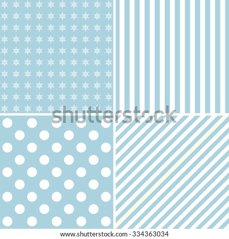 Set of four cute backgrounds  - stock vector