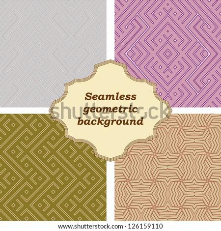 Set of four geometric pattern. - stock vector