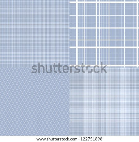 set of four  seamless  geometrical patterns
