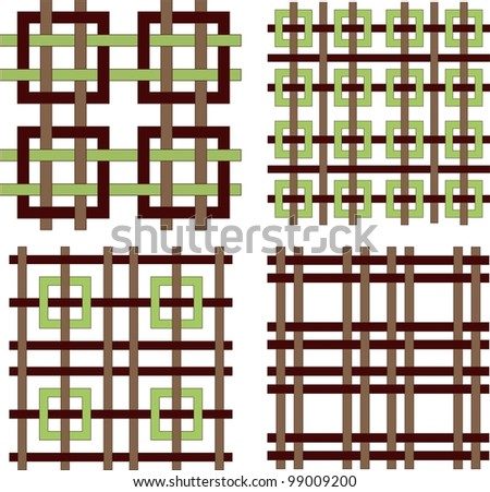 set of four seamless ornament patterns - stock vector