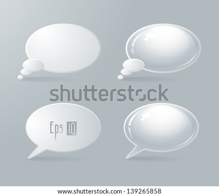 Set of four speech bubbles. Vector illustration - stock vector