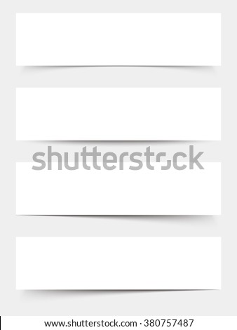 Set of four vector blank white web banners.