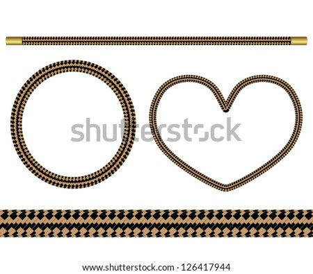 set of four vector elements of rope for design - stock vector