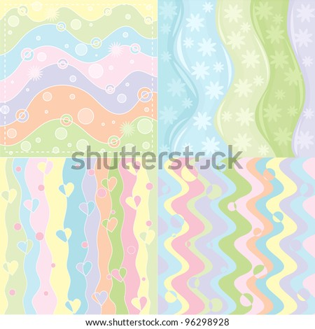 set of four vector gentle abstract backgrounds
