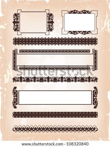 set of frame pattern - stock vector