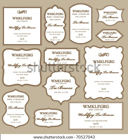 SET OF FRAMES DESIGN ELEMENTS. Editable vector illustrator file. - stock vector
