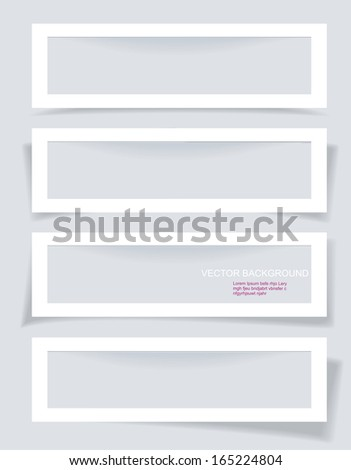 Set of Frames with Different Shadows - stock vector