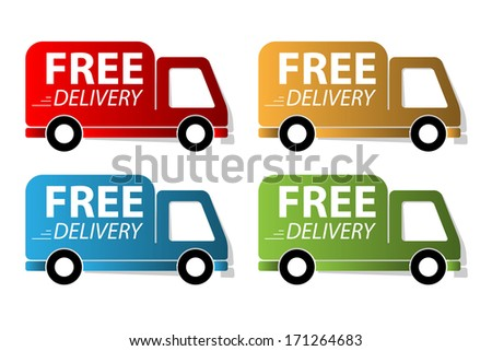 Set of free delivery label
