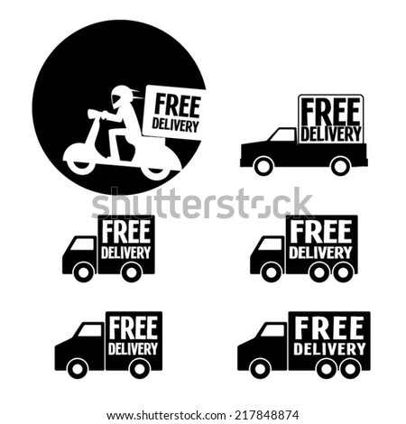 Set of free delivery. Vector illustration - stock vector