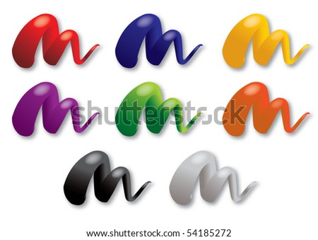 set of fresh colors - stock vector