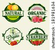 Set of Fresh & Organic labels - stock vector