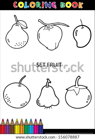 Set of Fruit doodle drawings vector.eps10