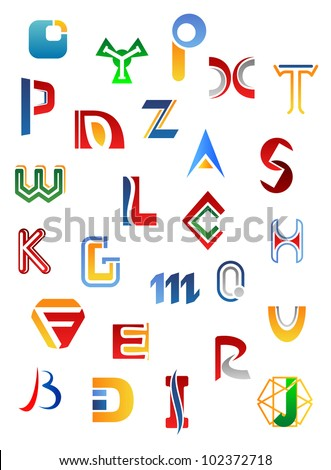 Set of full alphabet symbols and letters, such logo. Jpeg version also available in gallery