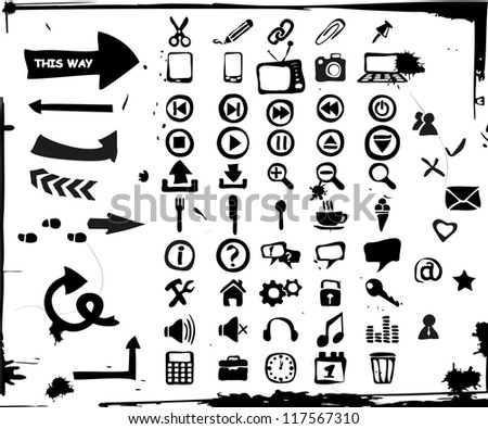 Set Of Funny Icons - stock vector