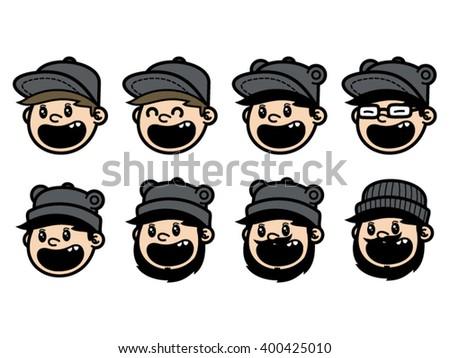 sloth mask template - pet shop sloth face funny logo stock vector 402803245