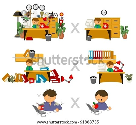 set of funny vector people icons - stock vector