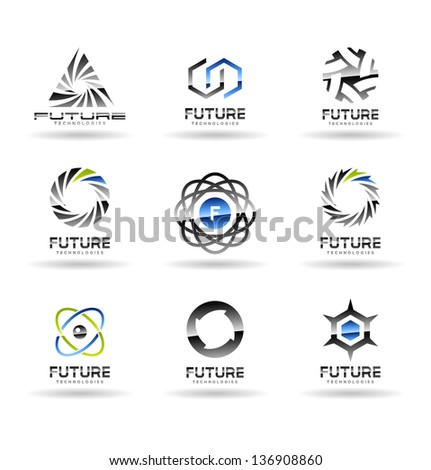 Set of Future technology icons. Vol 2. - stock vector