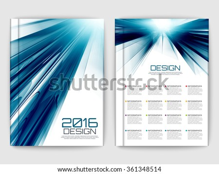 Set of futuristic fractal brochures. Modern wave vector elements for web, print, magazine, flyer, brochure, media, data visualization, marketing, flyer, poster, and advertising concepts. - stock vector