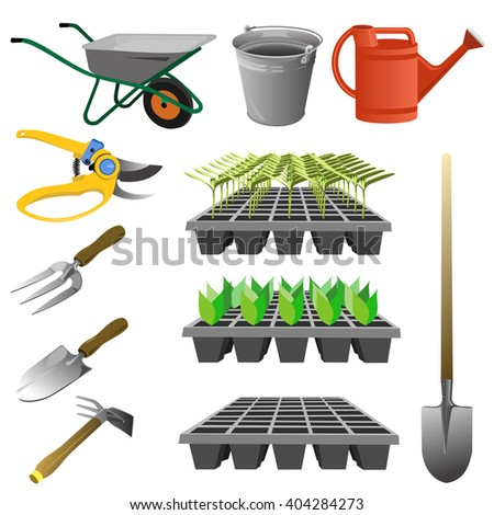 Weeder stock images royalty free images vectors for Gardening tools vector