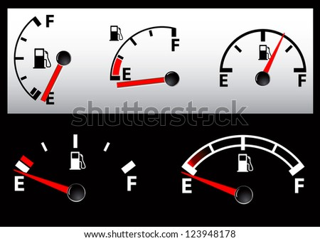 set of Gas Tank Illustration - vector illustration - stock vector