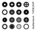 Set of gear wheels vector - stock photo