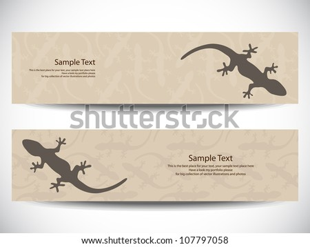 Set of gecko banners