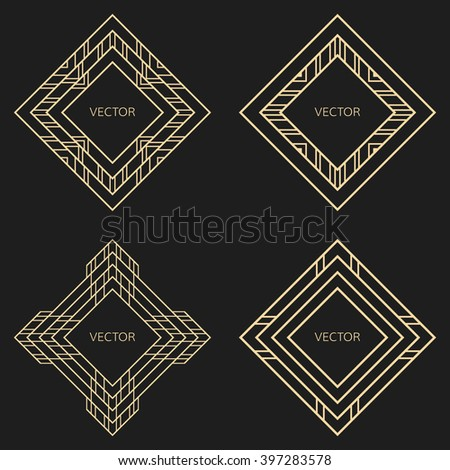 Gatsby frame stock images royalty free images vectors for Element deco design