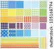 Set of geometric seamless patterns. Vector backgrounds collection. - stock vector