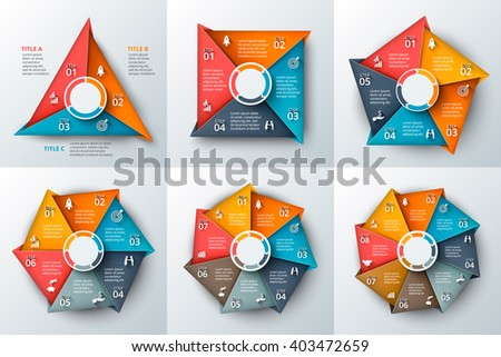Set geometric shapes infographic template cycle stock vector set of geometric shapes for infographic template for cycle diagram graph presentation and ccuart Choice Image
